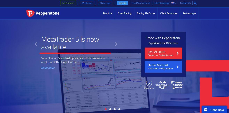 pepperstone forex broker website