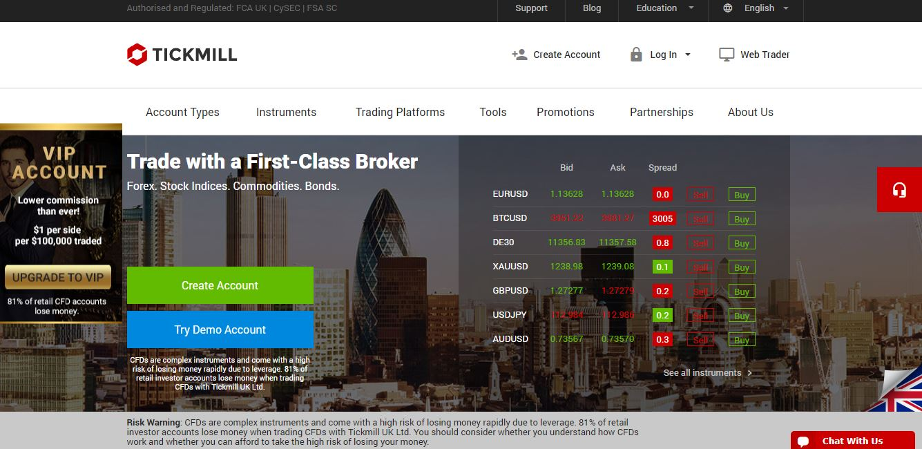 tickmill forex broker website