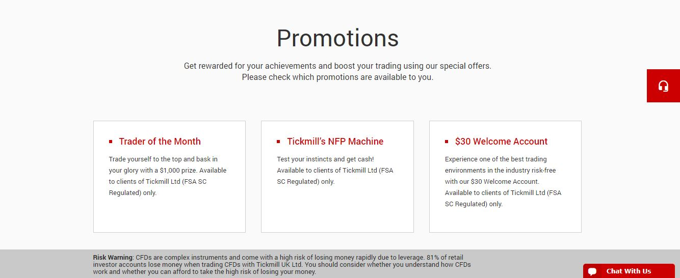 tickmill promotions
